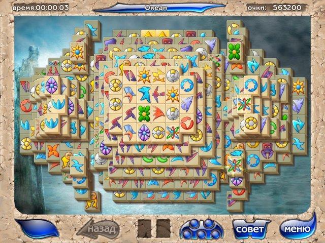 Скриншоты игры 'Маджонг Артефакт' .